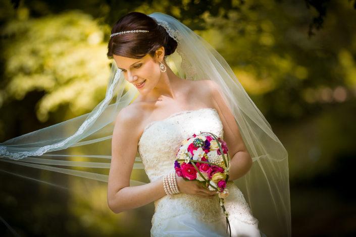 Portrait von einer Braut in Hanau
