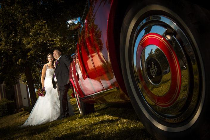 Foto von einem Brautpaar in Wasserlos