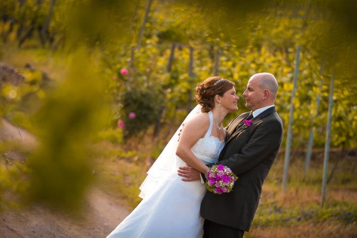 After Wedding Foto im Weinberg von Michelbach