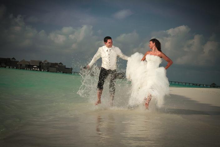 Hochzeitsfoto auf den Malediven