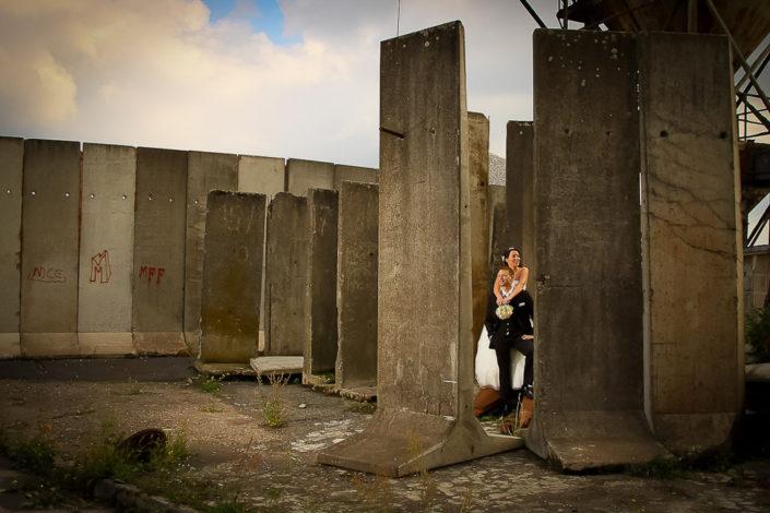Bilder eines Brautpaares im Hafen von Aschaffenburg