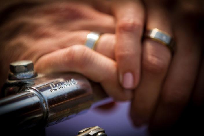 Ringfoto von einem Brautpaar