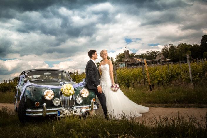 Hochzeitsfotos auf der Burg Schwarzenstein im Rheingau
