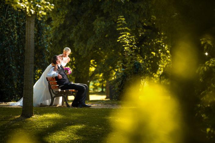 Hochzeitsfoto im Hanauer Schlosspark Philipsruhe