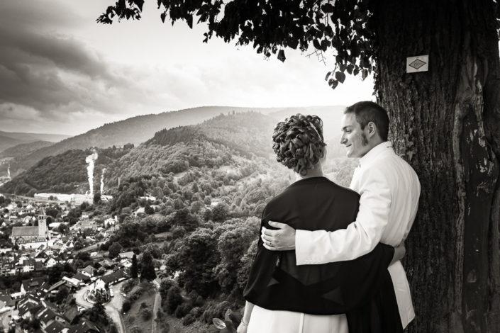 Hochzeitsfoto am Schloss Eberstein in Gernsbach